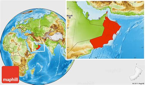 oman location in world map physical location map of oman