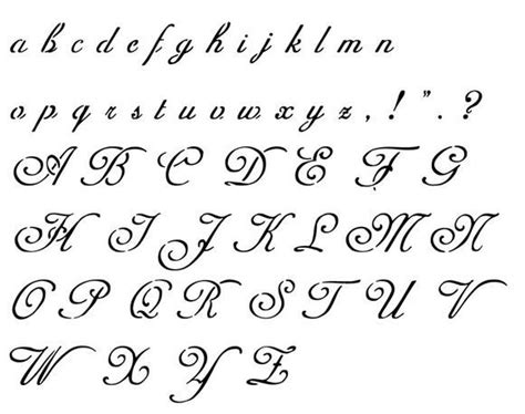 lettere gotiche alfabeto modele de lettre alphabet