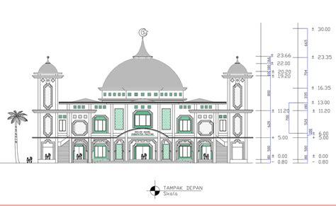 panduan bangunan rumah gambar design masjid besar
