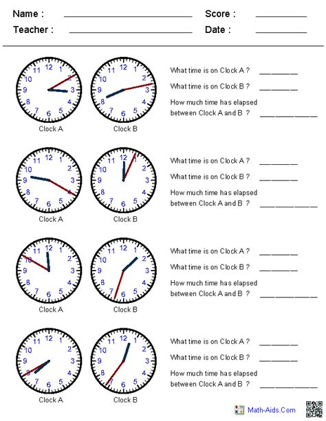 printable clock worksheets grade 3 elapsed time worksheets this site generates clock times in