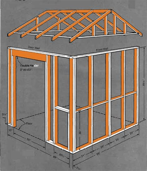 gable storage shed plans blueprints  creating