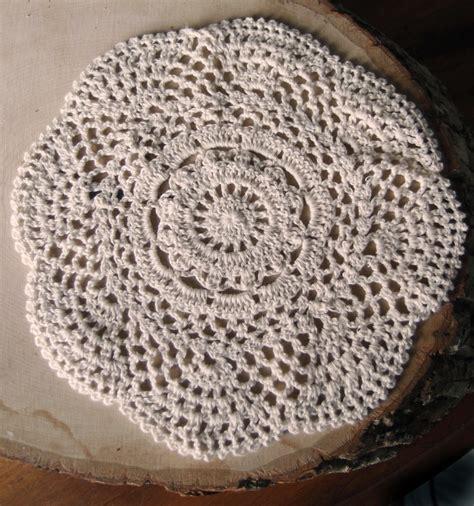 Handmade Doily - 8 quot handmade cotton crochet doilies beige 2 pack