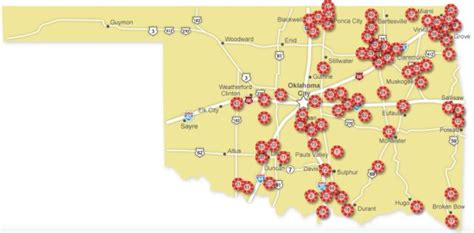 texas casinos map oklahoma casinos