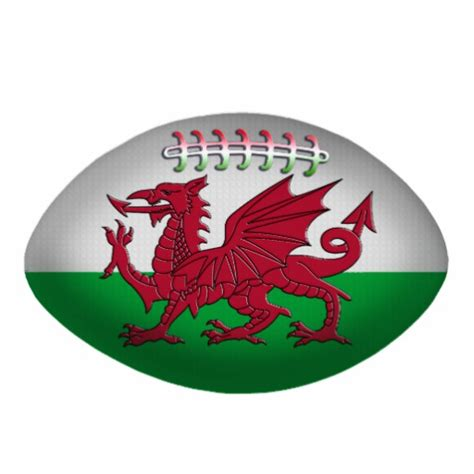 rugby ball wales flag ornament photo cutouts zazzle