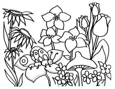 spring coloring pages for kids coloring town