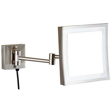 Magnifying Mirror For Bathroom Wall by Wall Mounted Lighted Magnifying Bathroom Mirror