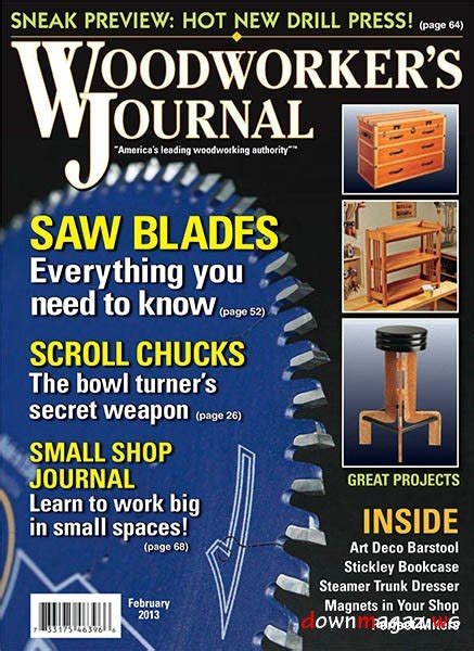 woodworkers journal magazine woodworker s journal february 2013 187 pdf