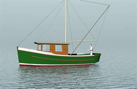 displacement fishing boat plans displacement power boats to 30 small boat designs by tad