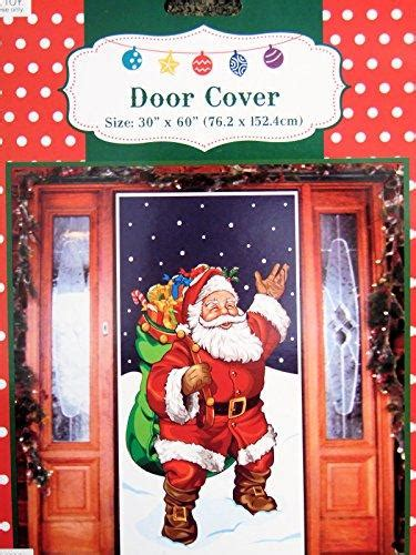 santas house of games xmas door decoration santa with gifts door cover decoration plastic 30x60 inches homedecorspot
