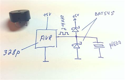 buzzer protection diode how to connect a piezo speaker to a microcontroller page 1