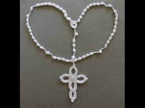 cruz artesanal a crochet paso a paso youtube crochet rosario parte 1 de 2 youtube