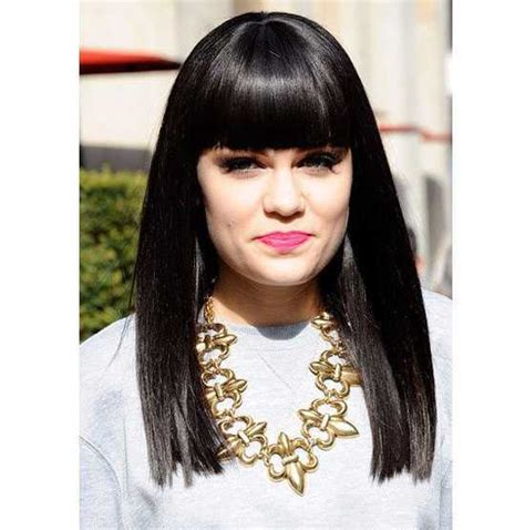 pics of 1inch below shoulder length hair hottest long haircuts with straight bangs hairstylesco