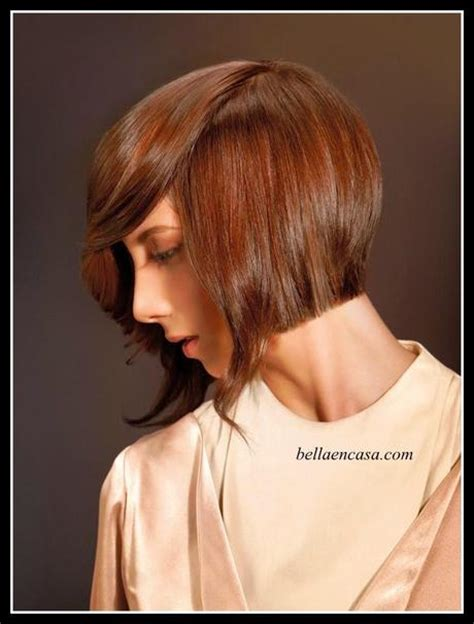 base marron chocolate con mechas californianas cabello chocolate con mechas marrones y corte bob paso a
