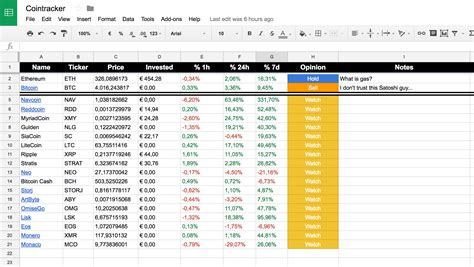 currency converter google sheets track your cryptocurrency portfolio with google
