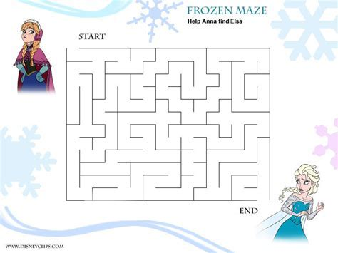 8 Best Images Of Frozen Free Printable Maze
