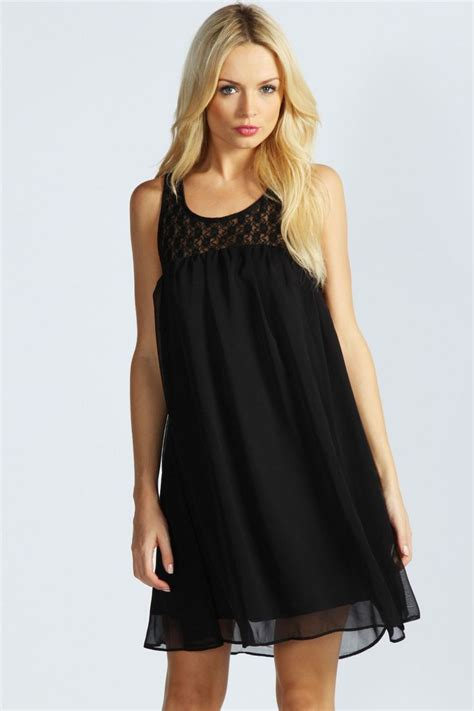 Chiffon Swing Dress Clothing Pinterest