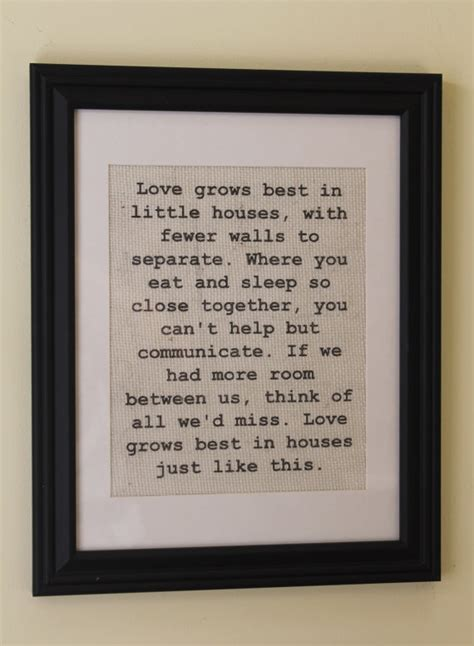 love grows best in little houses sign love grows best in little houses burlap sign wall print