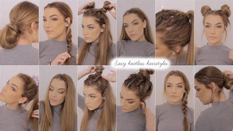 heatless hairstyles for picture day easy heatless hairstyles youtube
