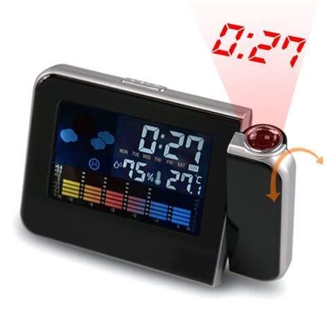 Weather Station Humidity Temperature Alarm Desk Clock Jam Alarm Silv weather station forecast temperature humidity lcd digital