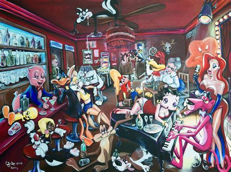 looney tunes painting the looney tunes hangover painting by oedekoven