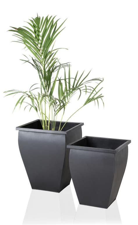 Square Zinc Planter by Black Flared Square Zinc Galvanised Planter H35cm 163 24 99