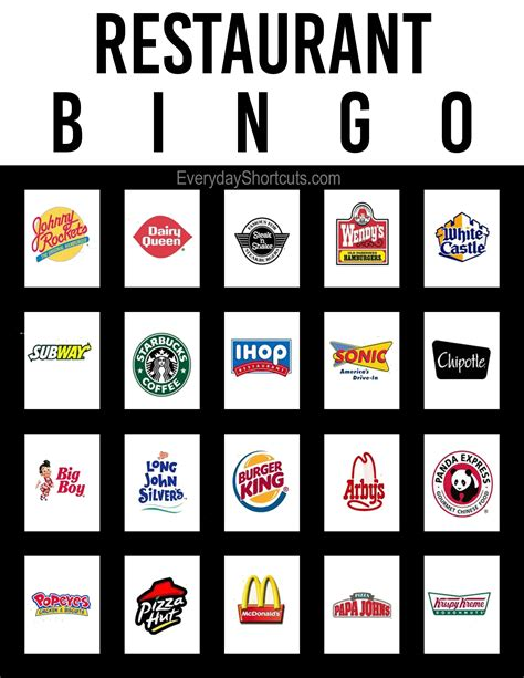 Restaurant Com Gift Card Disney - restaurant bingo everyday shortcuts