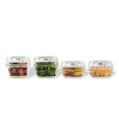 bed bath and beyond foodsaver foodsaver 174 fresh 6 piece container set in clear bed bath