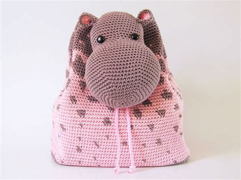 Hippo Backpack hippo backpack crochet pattern allcrochetpatterns net