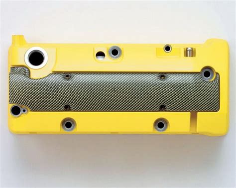 Spoon Carbon Cover Engine spoon sports engine valve cover yellow honda s2000 ap1 f20c 00 03