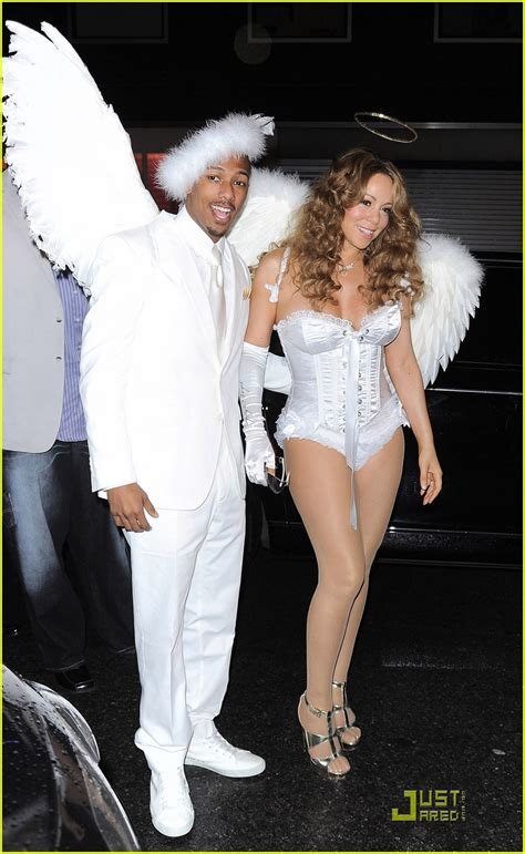 Full Sized Photo of mariah carey nick cannon are angels 04