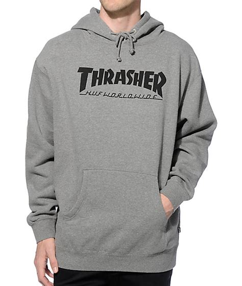 Hoddie Jaket Skate Huf huf x thrasher classic h hoodie