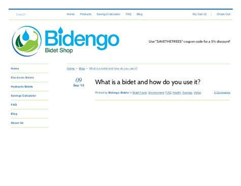 What is a bidet and how do you use it? ? bidengo