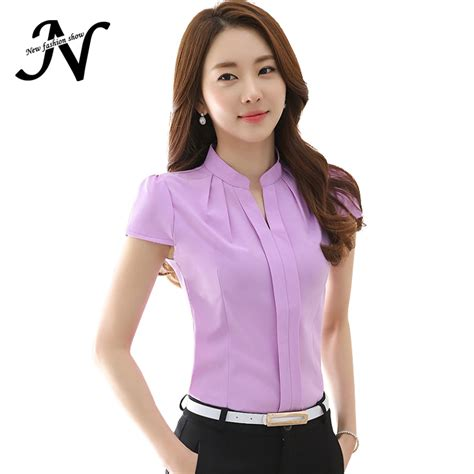 Ds100 Sale Kemeja Office Purple Atasan Wanita Ungu Salur Katun Import buy wholesale formal blouses from china formal blouses wholesalers aliexpress