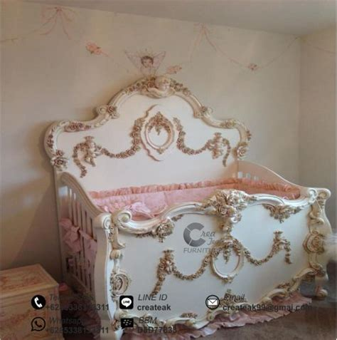 Keranjang Bayi Dari Kayu ranjang bayi ukir baroque createak furniture createak furniture