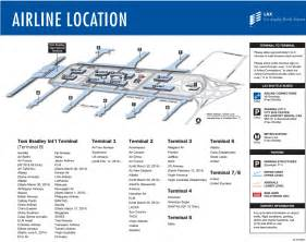 Los Angeles Terminal Map by Lax Terminals Airline And Parking Map For Los Angeles Airport