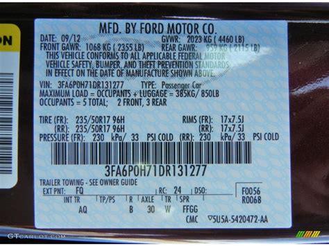 2013 ford fusion se color code photos gtcarlot