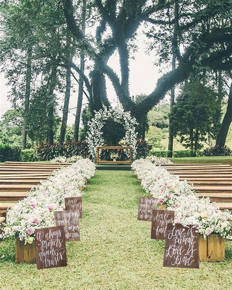 Wedding Outdoor Photos by 100 Awesome Outdoor Wedding Aisles You Ll Outdoor