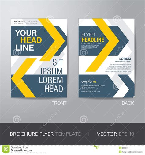 Credit Card Size Brochure Template Corporate Brochure Flyer Design Layout Template In A4 Size With Stock Vector Image 56881184