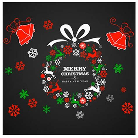 merry christmas ball removable wall stickers decal mural
