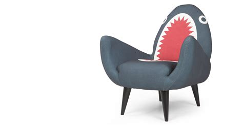 made com armchair rodnik shark fin chair made com