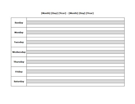 daily planner template libreoffice weekly blank calendar landscape 04 free printable templates