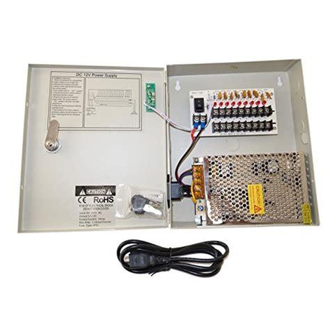 Konektor Cabang 8 Dc Cctv 8 channel 9 port power box security 12v dc 5a ere cctv dvr power supply switch box key