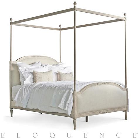queen canopy bed eloquence dauphine queen canopy bed in beach house natural kathy kuo home