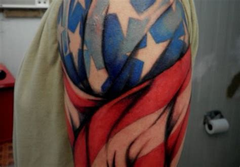american flag tattoo on lower the best american patriotic tattoos 187 ideas