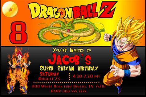 imagenes para cumpleaños de dragon ball z dragon ball z birthday invitation invitacion de