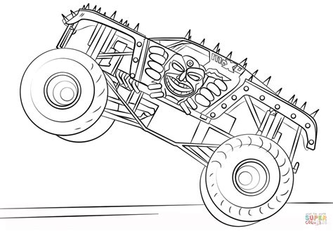max d monster truck coloring page free printable