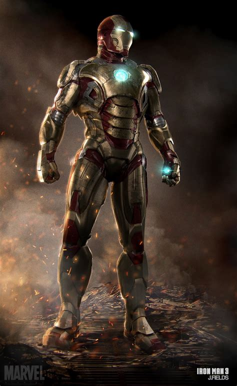 artistry of men burning iron man 3 concept art by justin fields 171 film sketchr