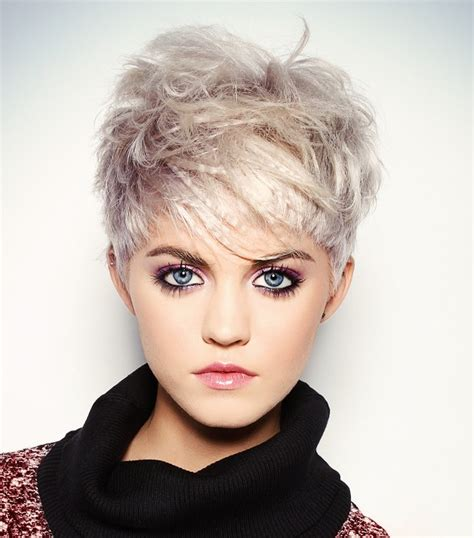sculptured short hairstyles a short blonde hairstyle from the sculpted collection by