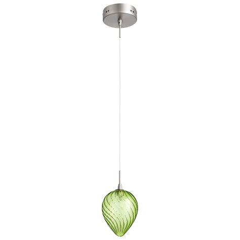 lime green glass pendant light