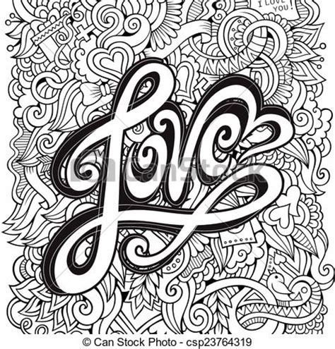 drawing vector graphics hand lettering vector clip art of love hand lettering and doodles